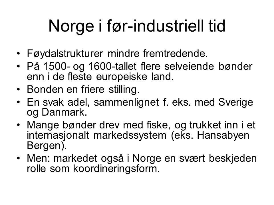 Norge i før-industriell tid