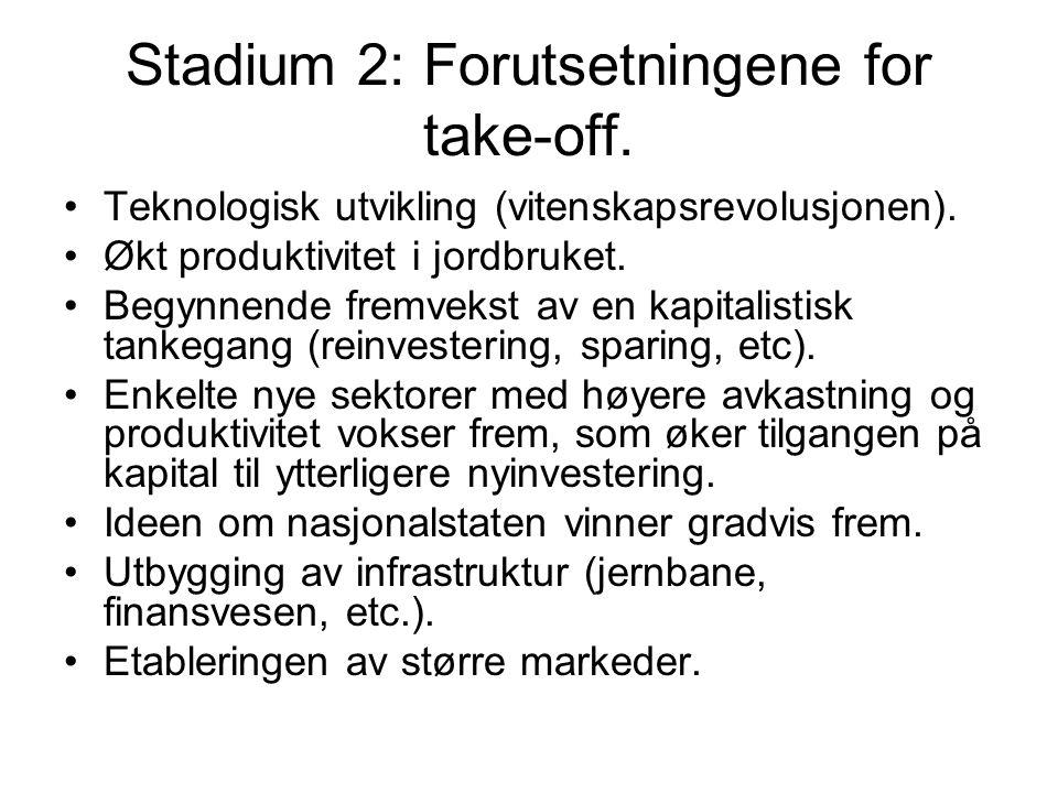 Stadium 2: Forutsetningene for take-off.