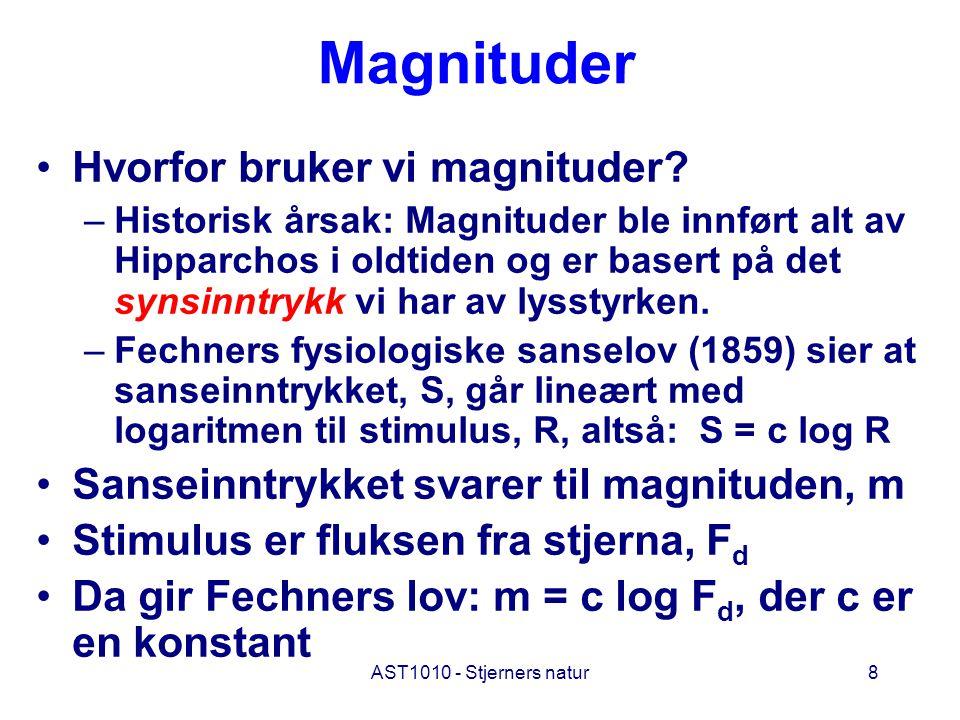 Magnituder Hvorfor bruker vi magnituder