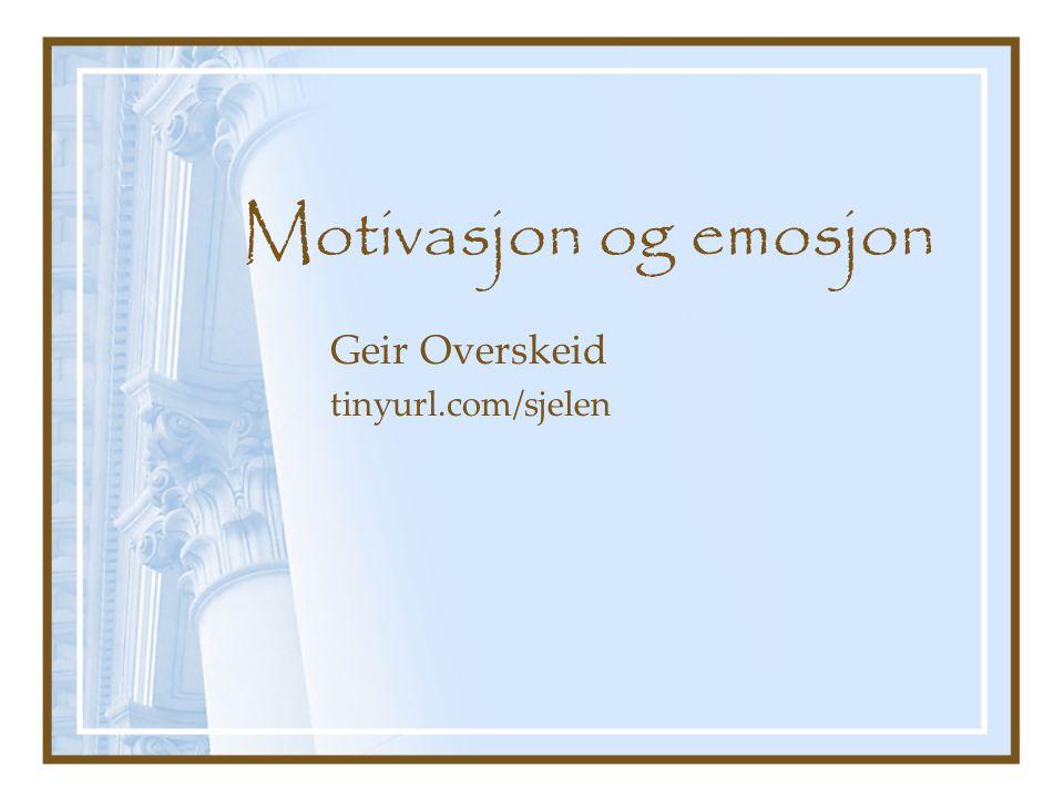 Geir Overskeid tinyurl.com/sjelen