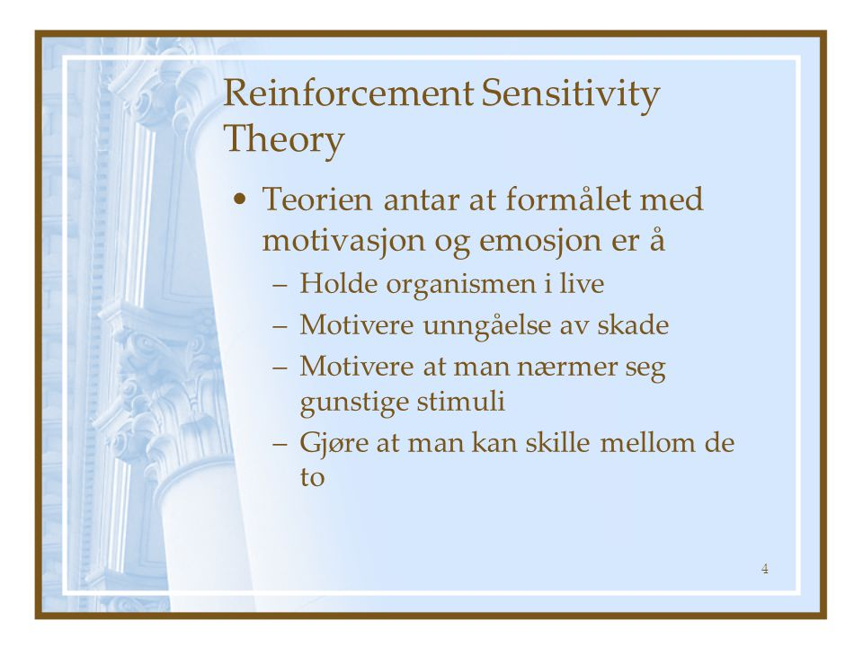 Reinforcement Sensitivity Theory