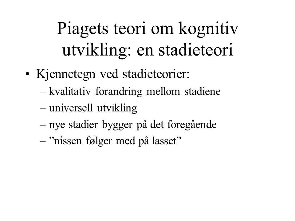 Piagets teori om kognitiv utvikling: en stadieteori