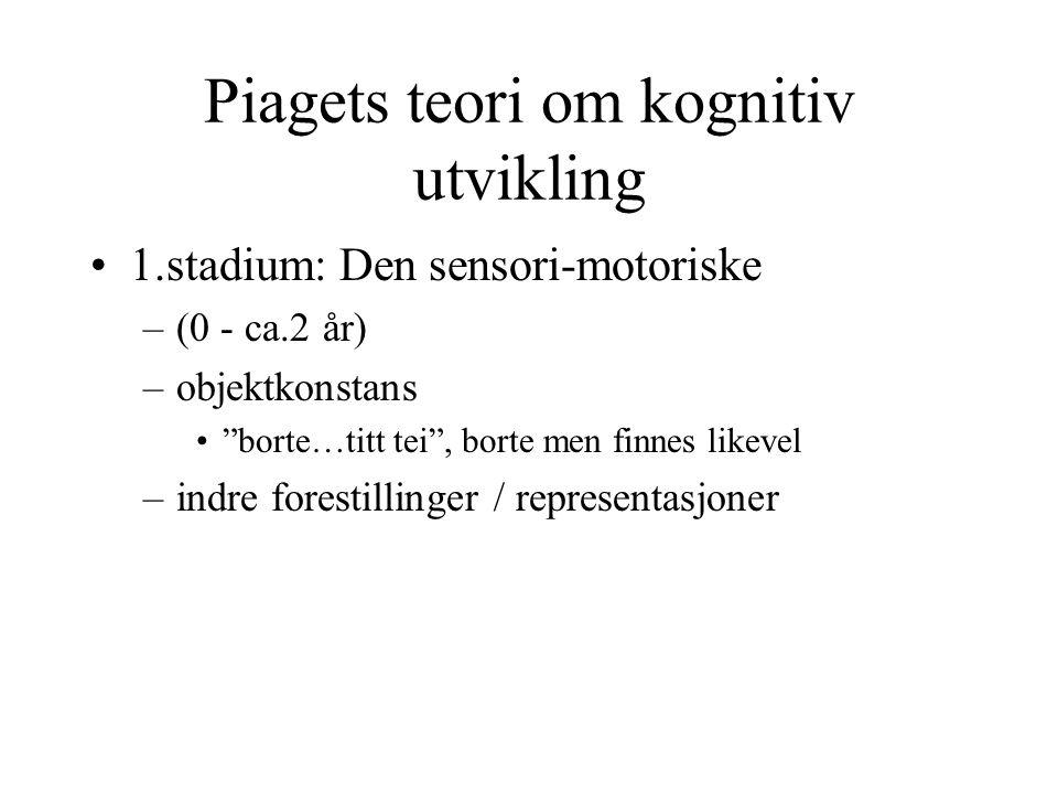 Piagets teori om kognitiv utvikling
