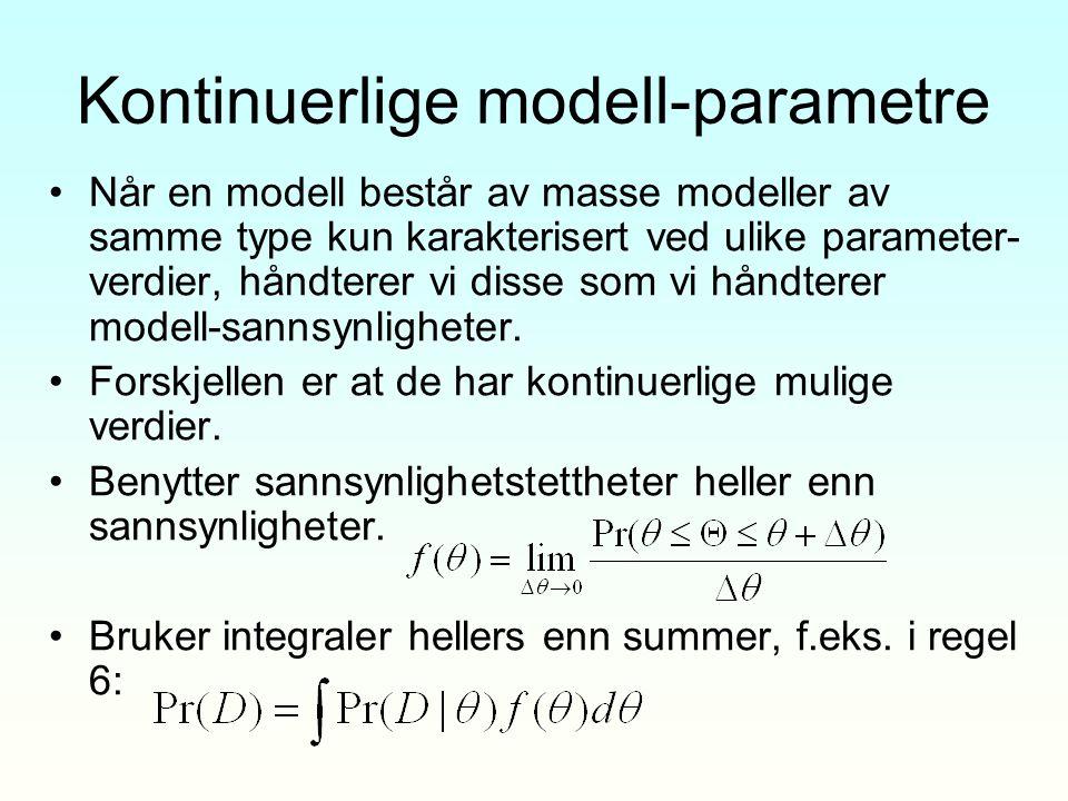 Kontinuerlige modell-parametre