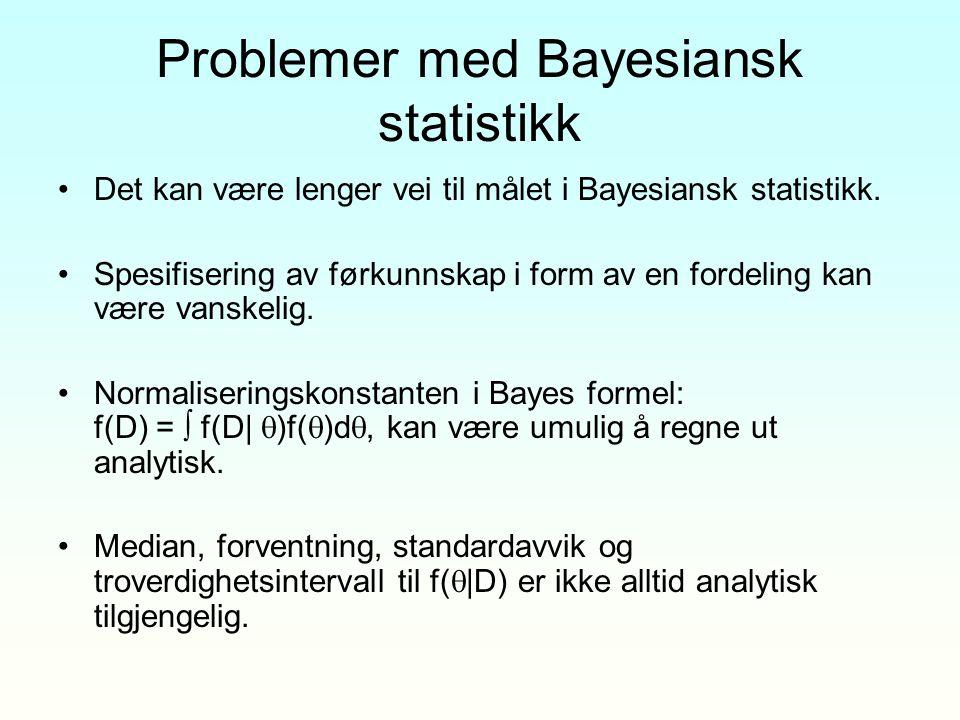 Problemer med Bayesiansk statistikk