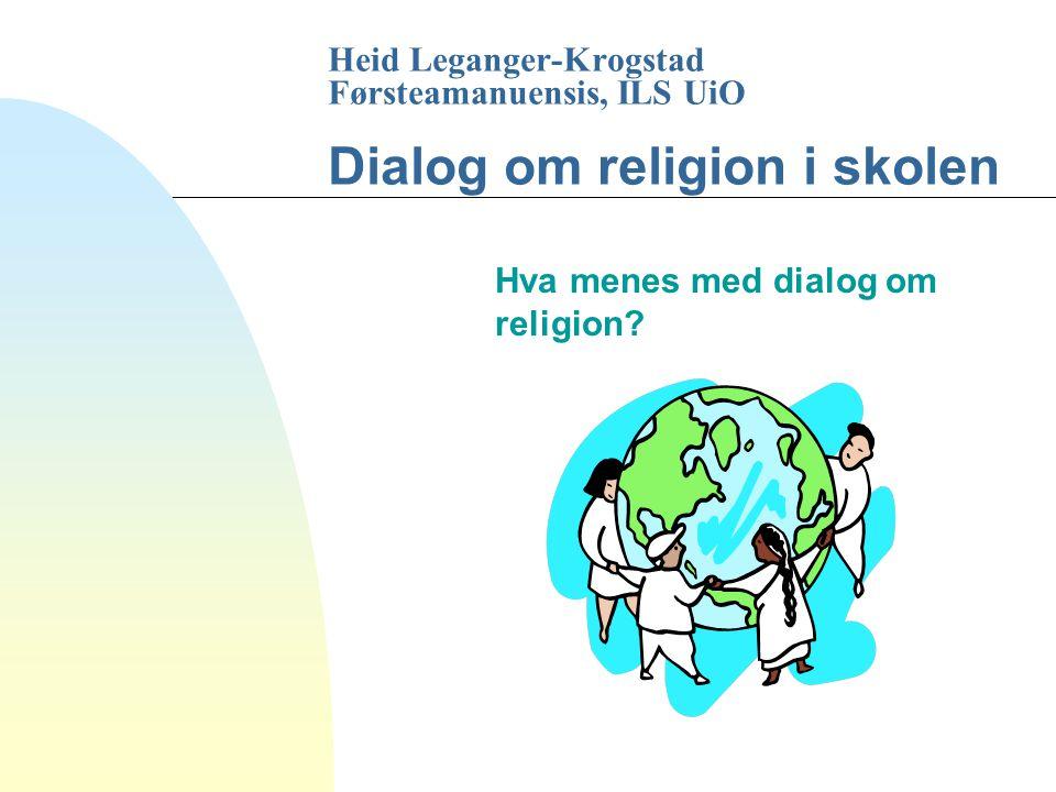 Hva menes med dialog om religion