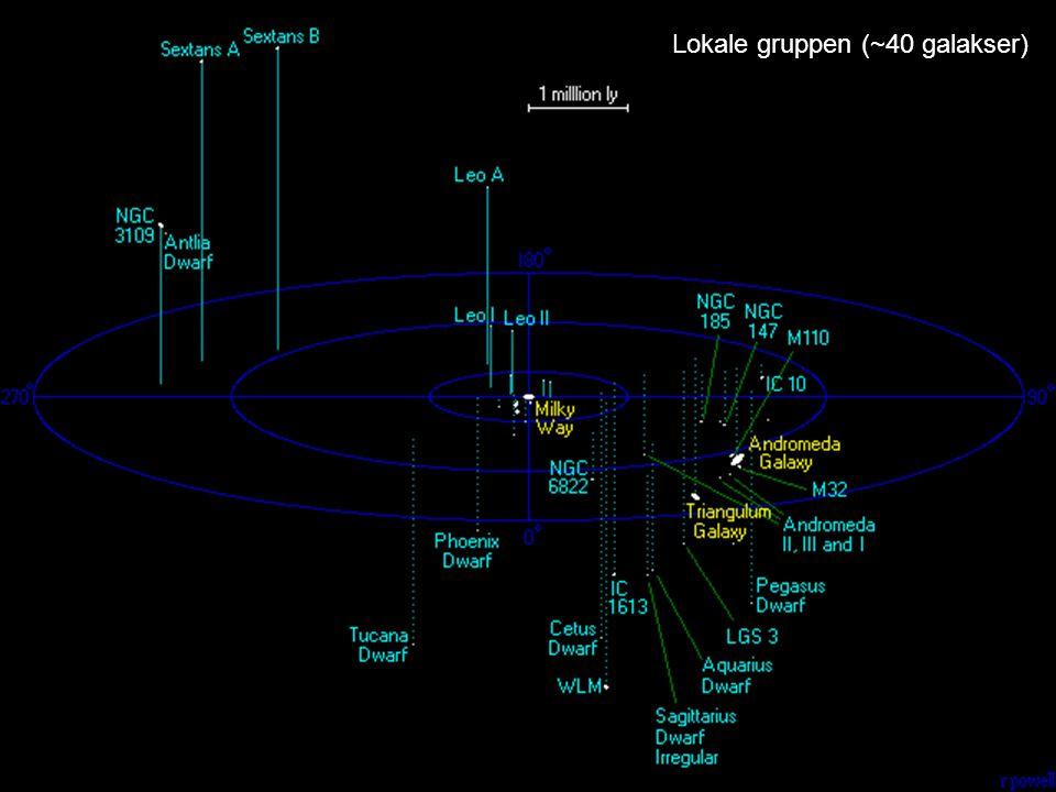 Lokale gruppen (~40 galakser)