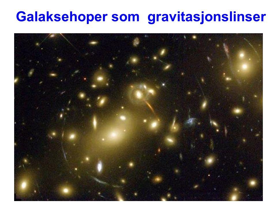 Galaksehoper som gravitasjonslinser