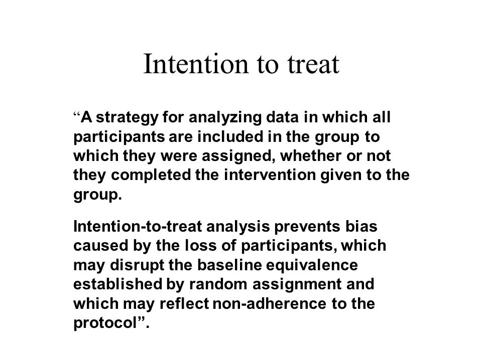 Intention to treat