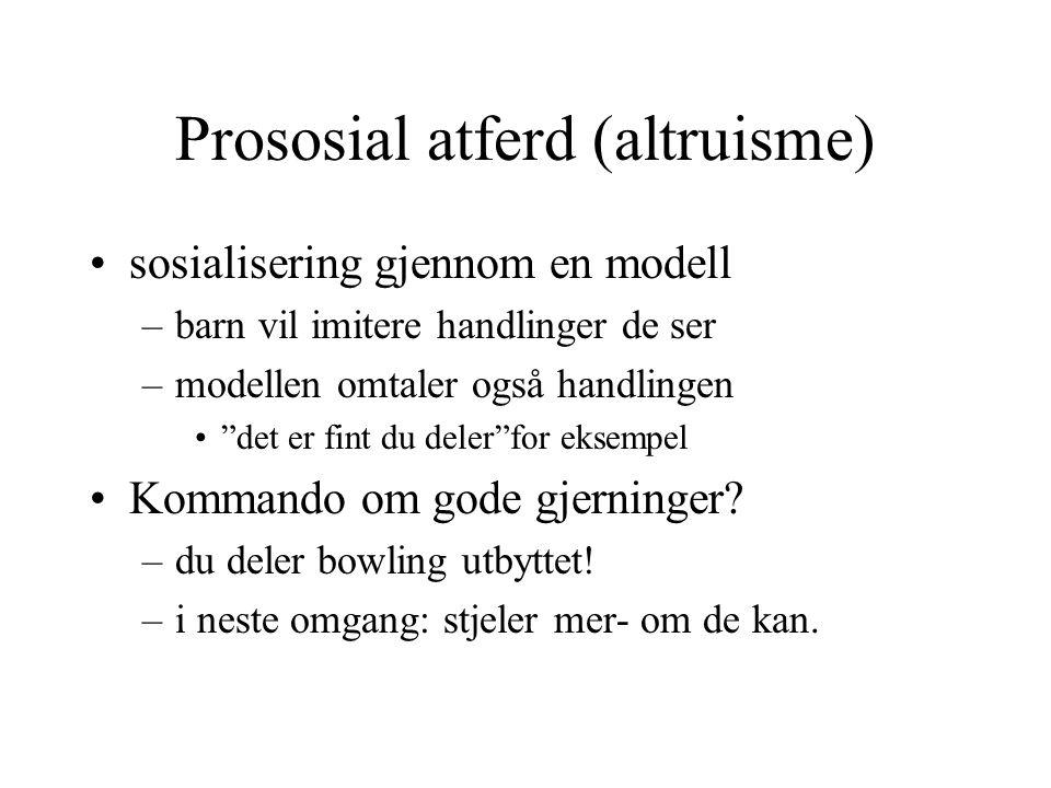 Prososial atferd (altruisme)