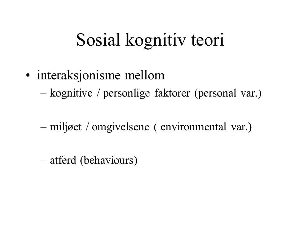 Sosial kognitiv teori interaksjonisme mellom