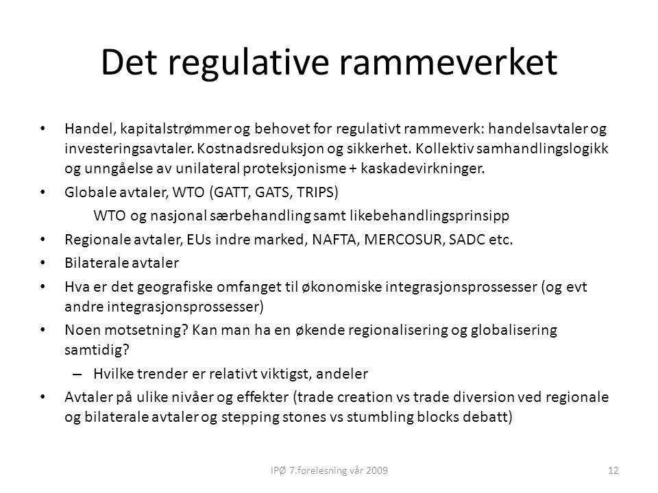 Det regulative rammeverket