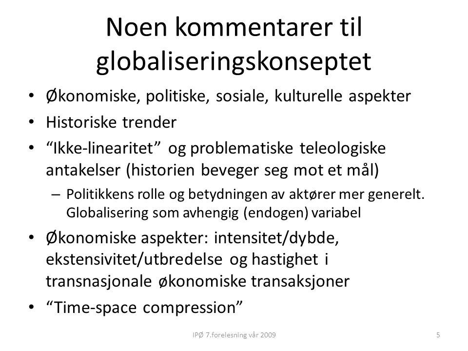 Noen kommentarer til globaliseringskonseptet