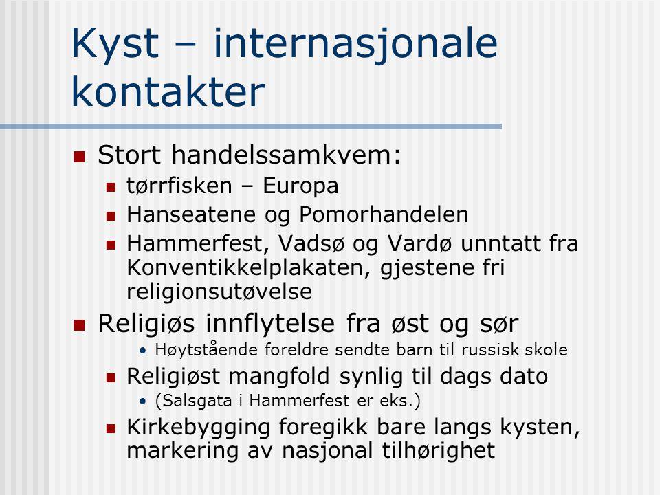 Kyst – internasjonale kontakter