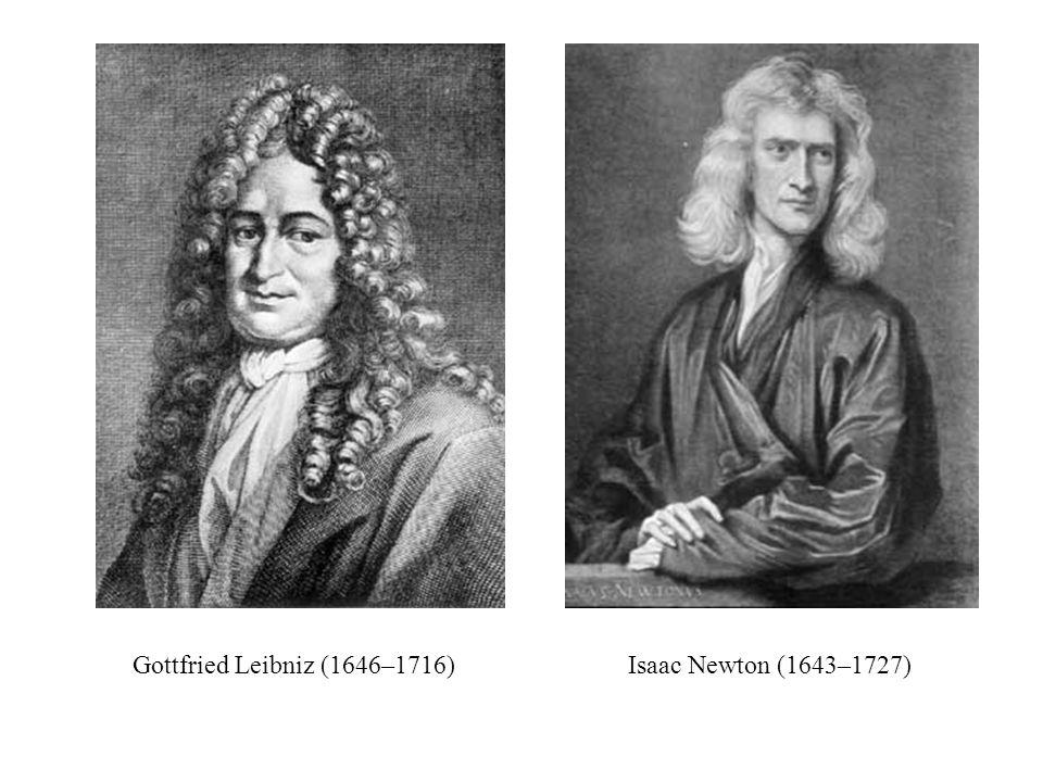 Gottfried Leibniz (1646–1716) Isaac Newton (1643–1727)