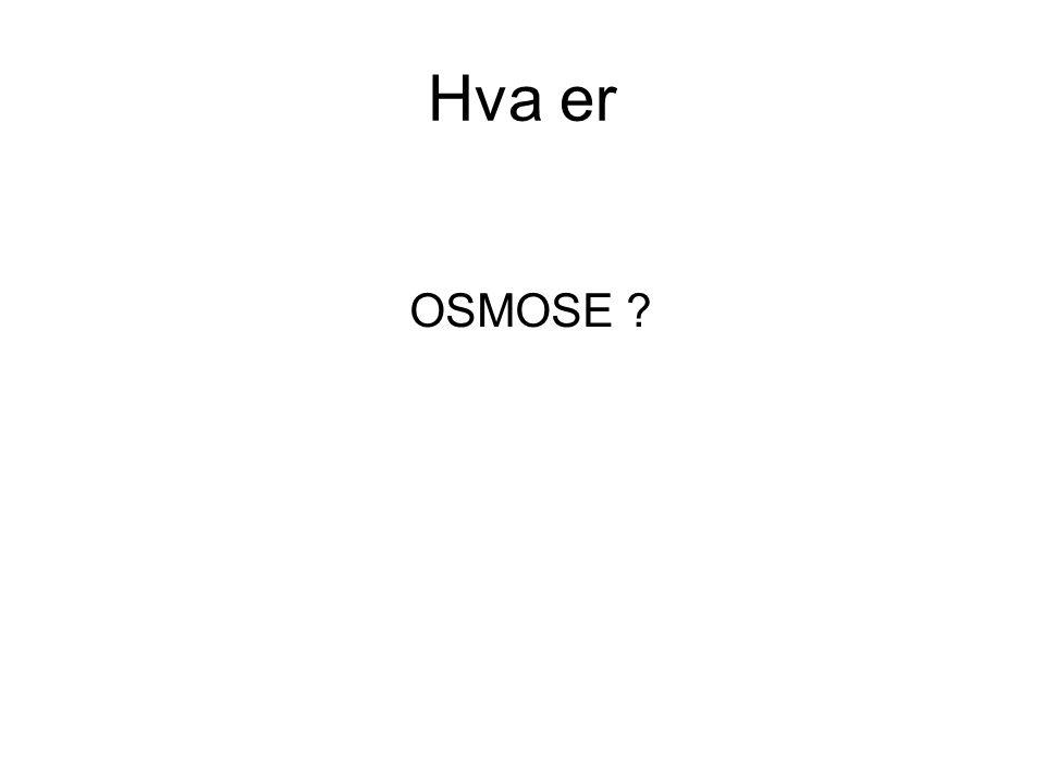 Hva er OSMOSE