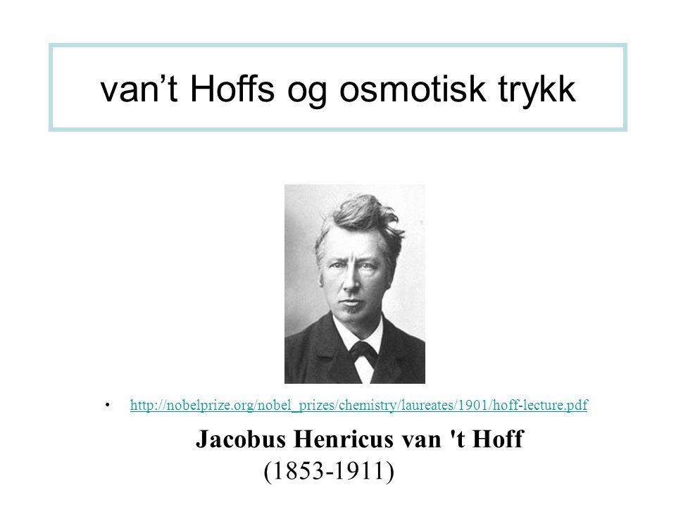 van't Hoffs og osmotisk trykk