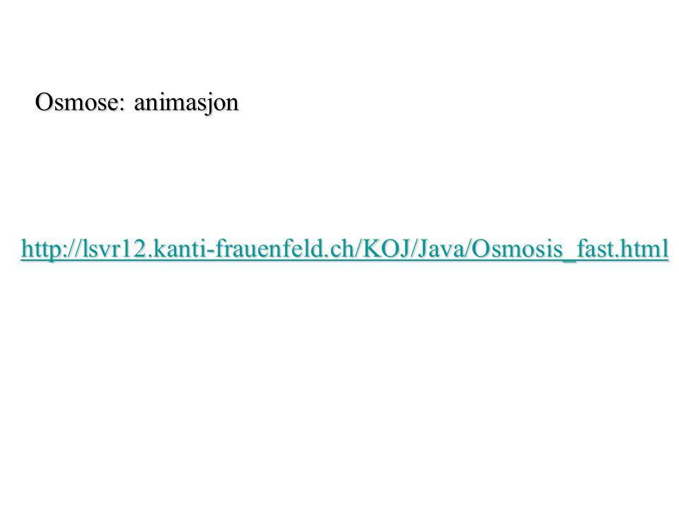 Osmose: animasjon http://lsvr12.kanti-frauenfeld.ch/KOJ/Java/Osmosis_fast.html