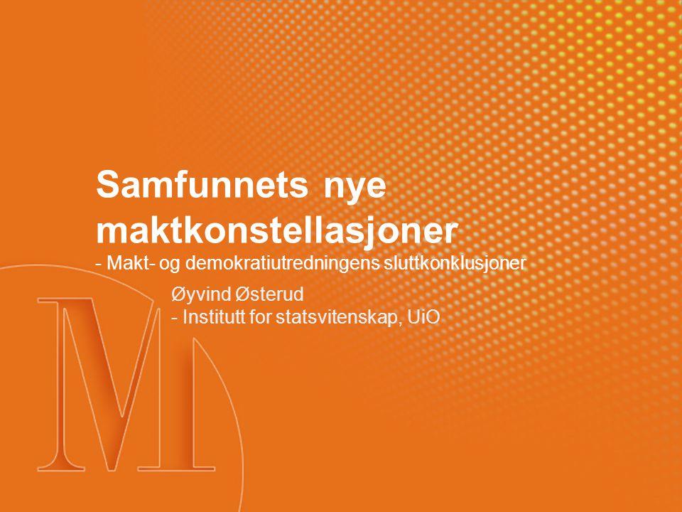 Øyvind Østerud - Institutt for statsvitenskap, UiO