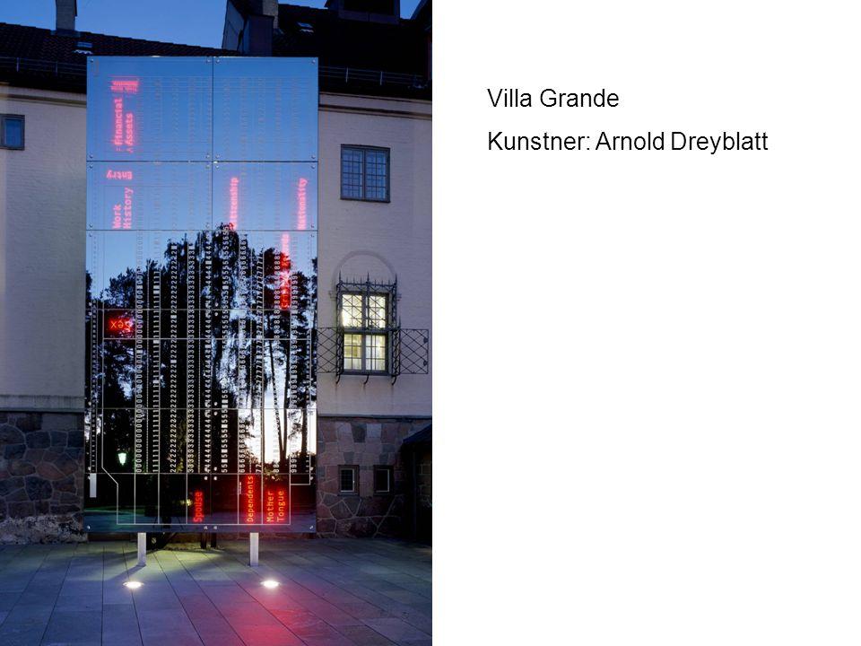 Villa Grande Kunstner: Arnold Dreyblatt