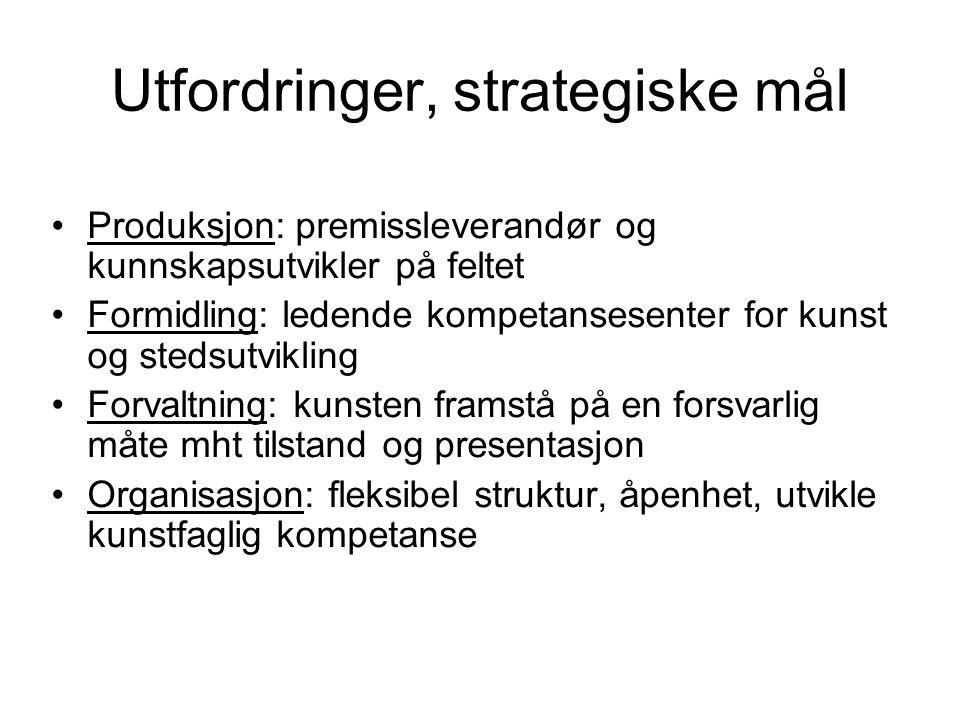 Utfordringer, strategiske mål