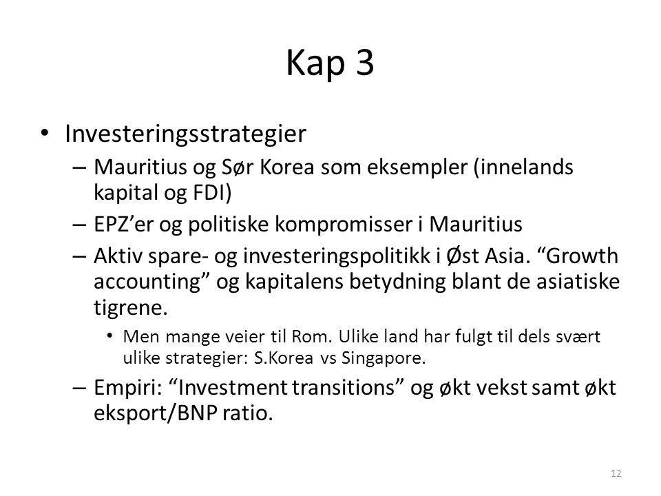 Kap 3 Investeringsstrategier