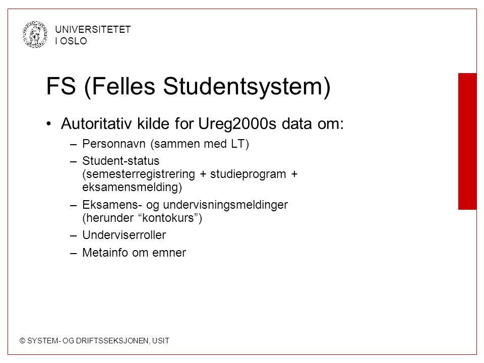 FS (Felles Studentsystem)