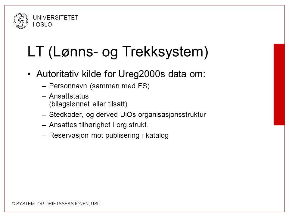 LT (Lønns- og Trekksystem)