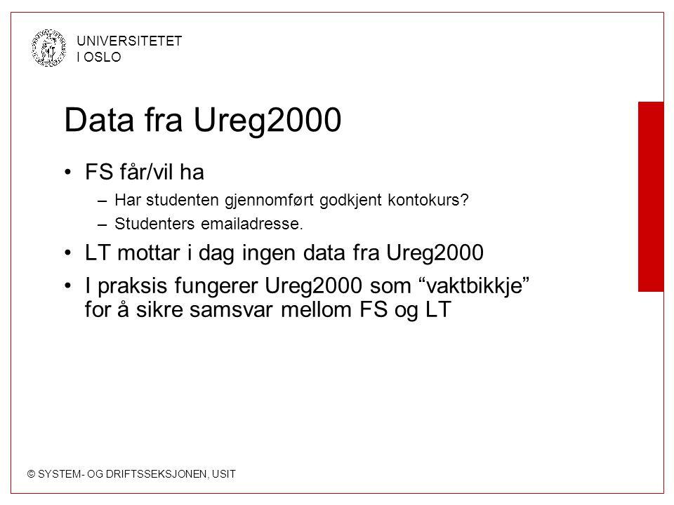 Data fra Ureg2000 FS får/vil ha