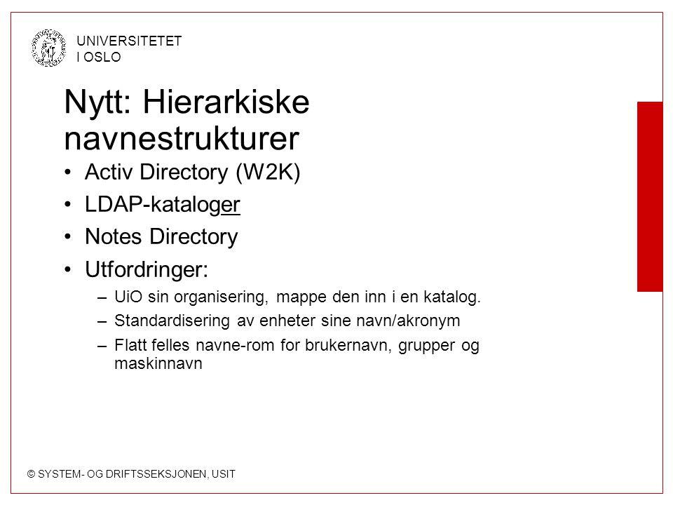 Nytt: Hierarkiske navnestrukturer