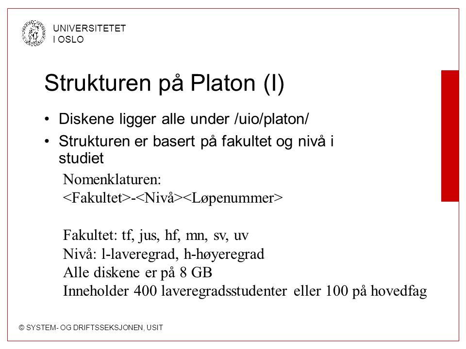Strukturen på Platon (I)