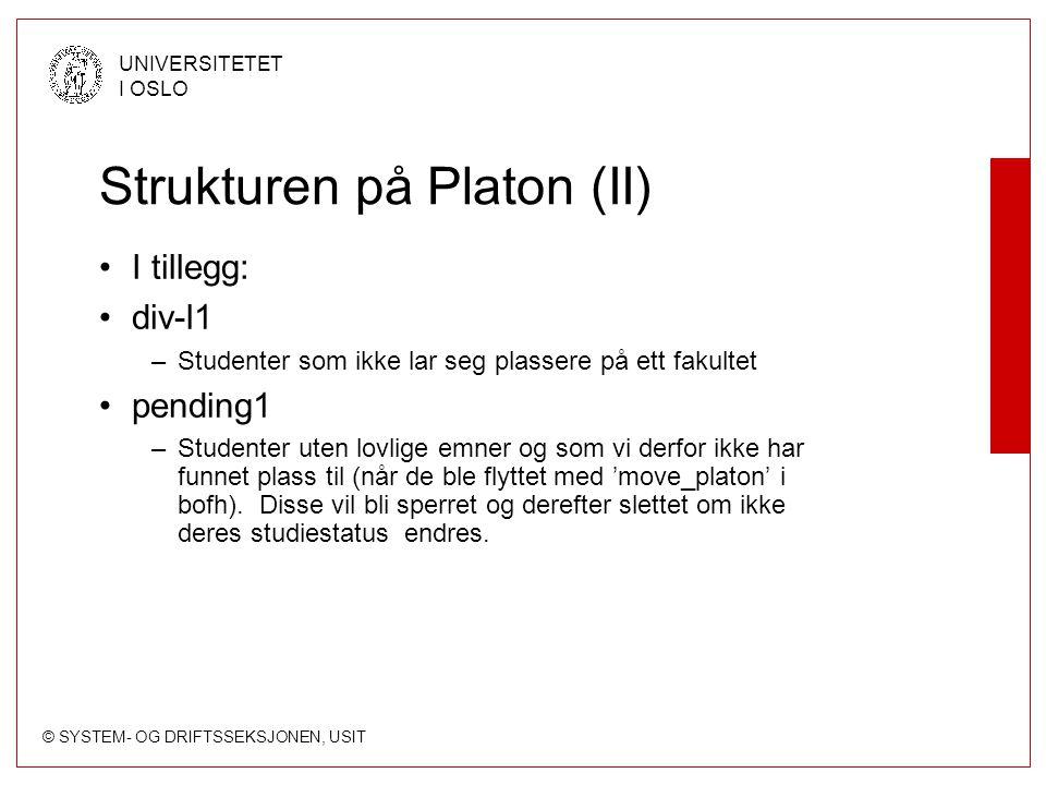 Strukturen på Platon (II)