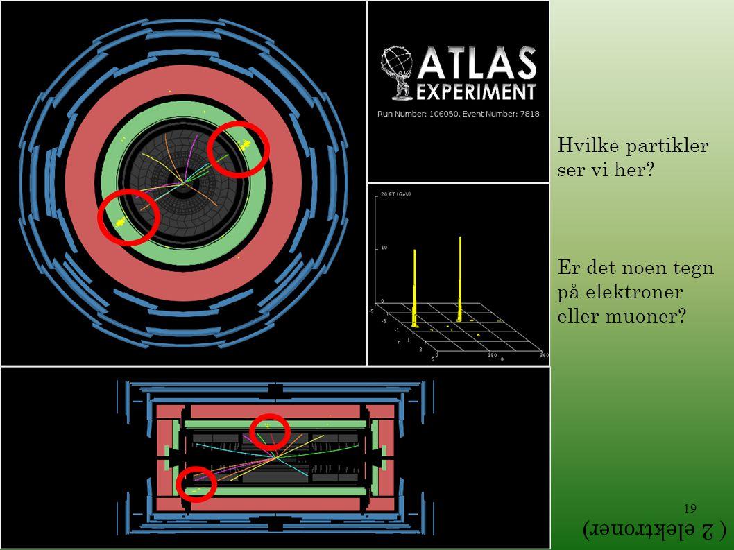 ( 2 elektroner) Hvilke partikler ser vi her