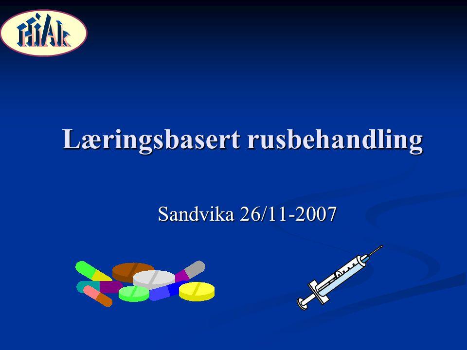 Læringsbasert rusbehandling