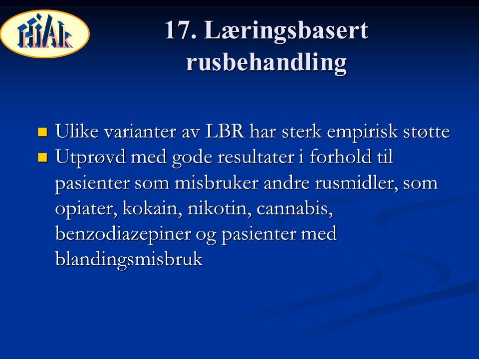 17. Læringsbasert rusbehandling
