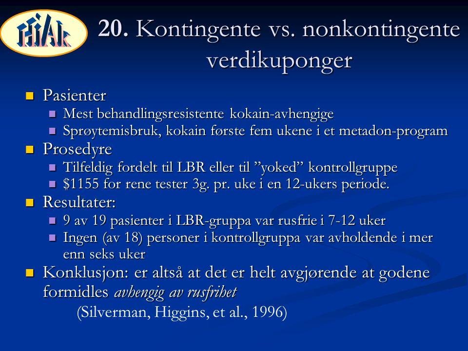 20. Kontingente vs. nonkontingente verdikuponger