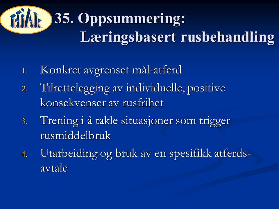 35. Oppsummering: Læringsbasert rusbehandling