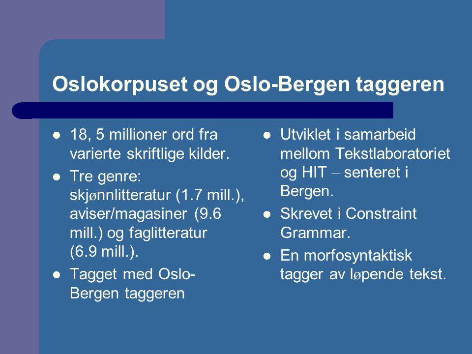 Oslokorpuset og Oslo-Bergen taggeren