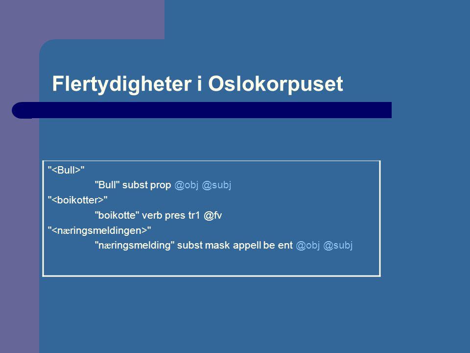 Flertydigheter i Oslokorpuset