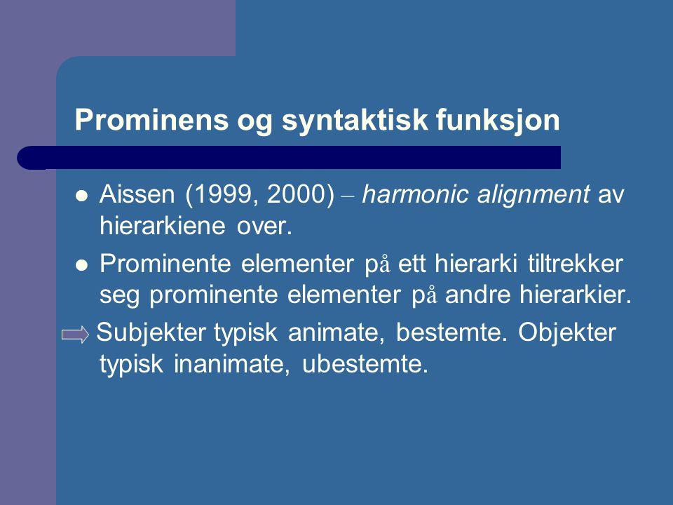 Prominens og syntaktisk funksjon