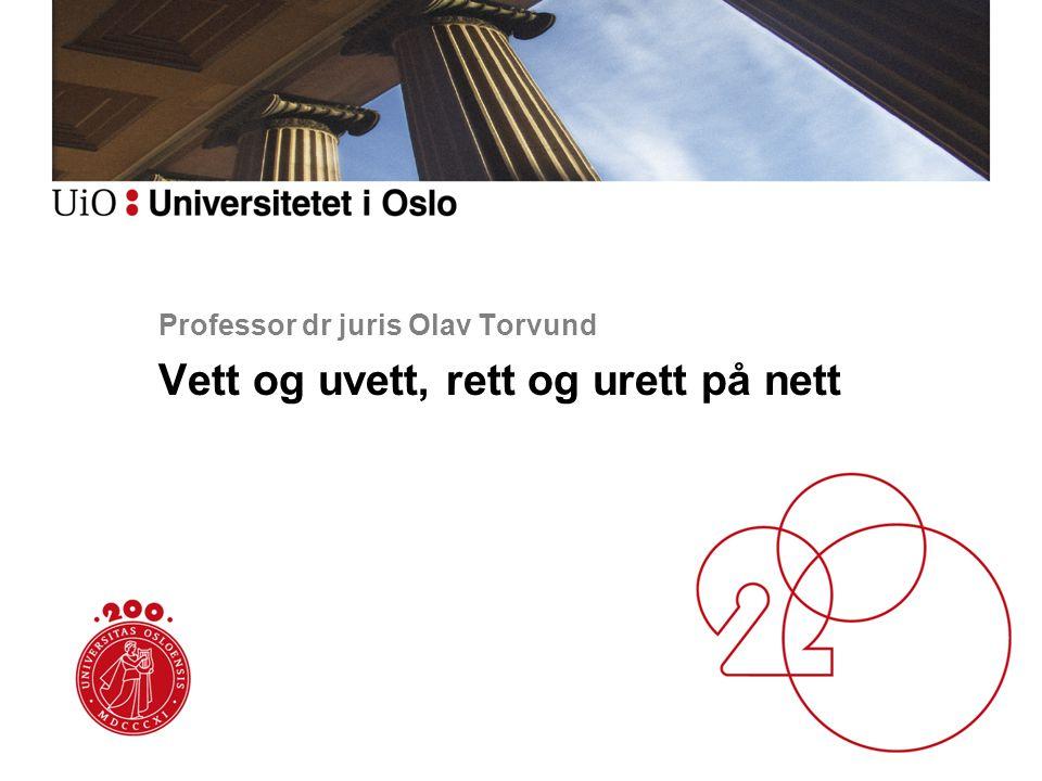 Professor dr juris Olav Torvund