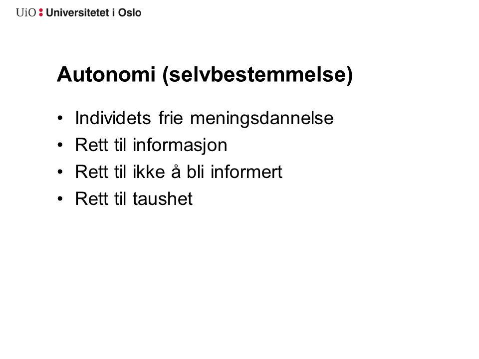 Autonomi (selvbestemmelse)