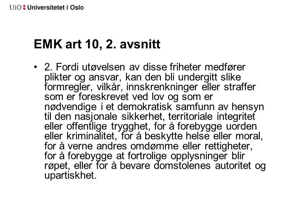 EMK art 10, 2. avsnitt
