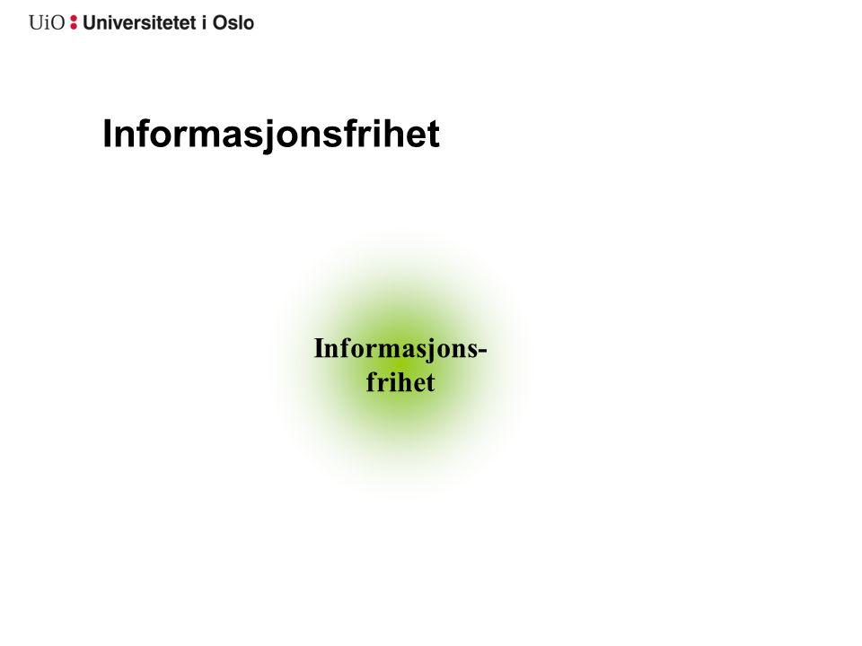 Informasjonsfrihet Informasjons- frihet