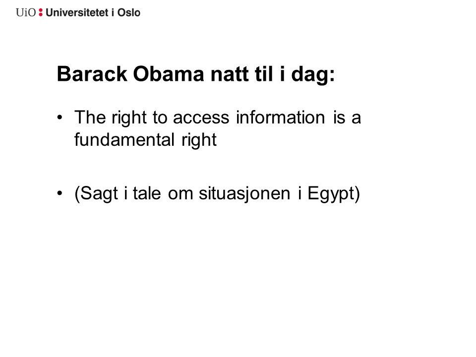 Barack Obama natt til i dag:
