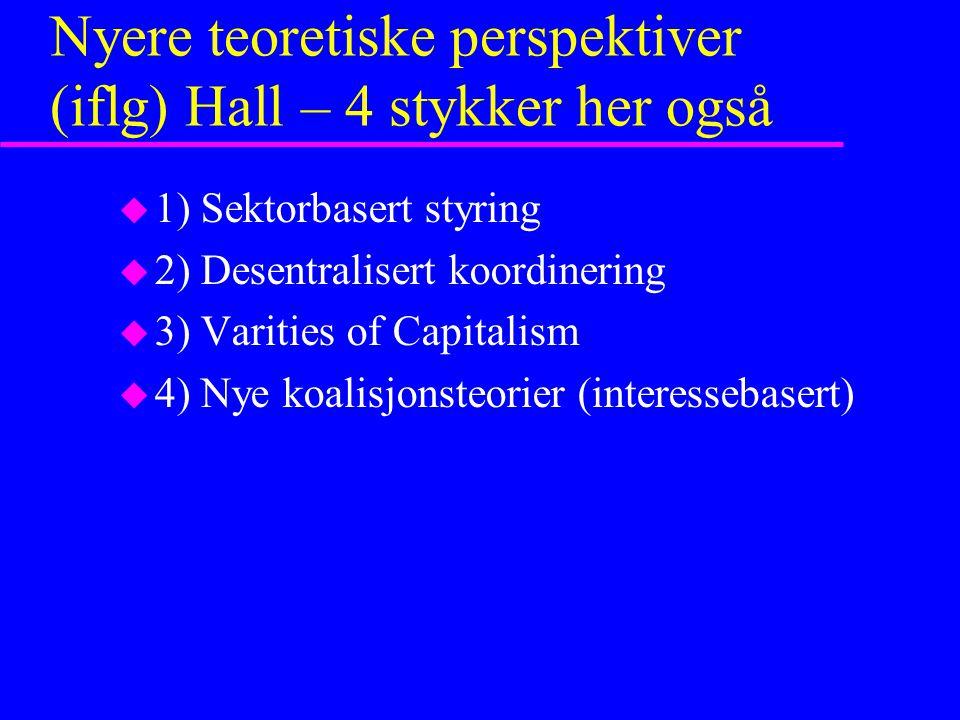 Nyere teoretiske perspektiver (iflg) Hall – 4 stykker her også