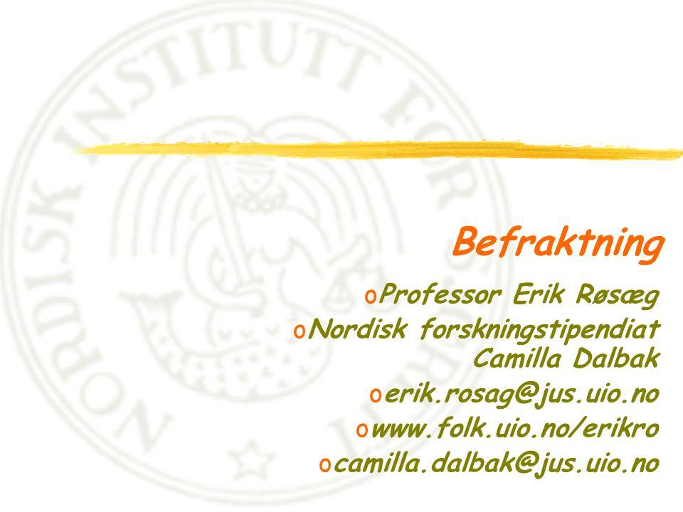 Befraktning Professor Erik Røsæg