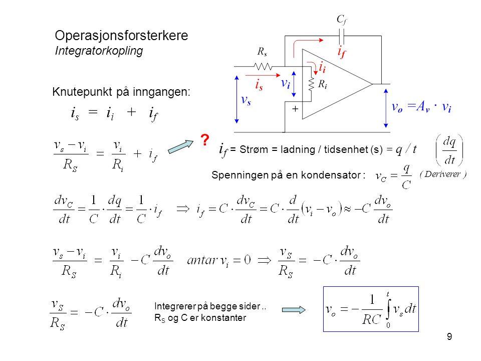 is = ii + if if = Strøm = ladning / tidsenhet (s) = q / t