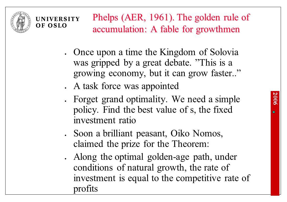 Nyklassisk vekstteori, 1960 Robert Solow og Trevor Swan
