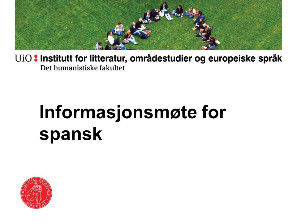 Informasjonsmøte for spansk